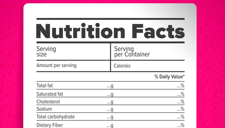 Que Es Una Tabla Nutricional Y Cual Es Su Significado