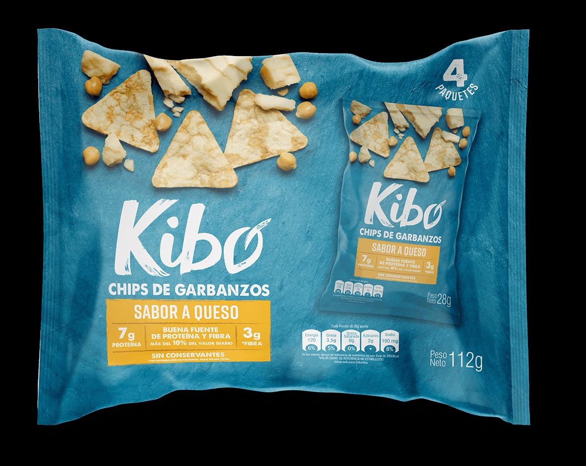 Chips sabor a queso de garbanzos bolsa por 4 uds