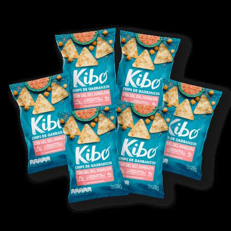 snacks saludables de garbanzos con sal del himalaya bolsa 6 unidades
