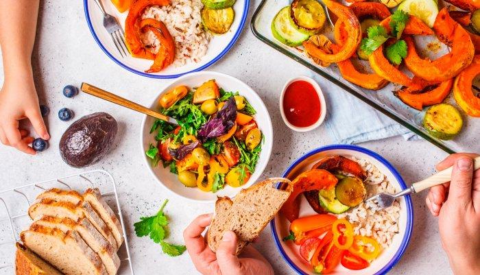 opciones de comida vegetariana