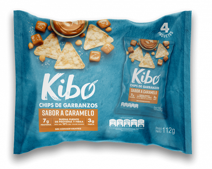 Chips de garbanzos sabor a caramelo bolsa por 4 unidades