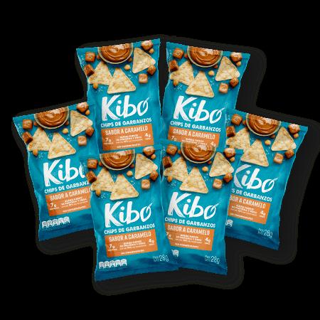 chips de garbanzos sabor a caramelo bolsa por 6 unidades