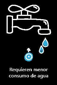 Menor consumo de agua